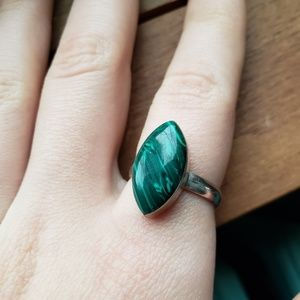 Jewelry - Malachite ring with sterling silver